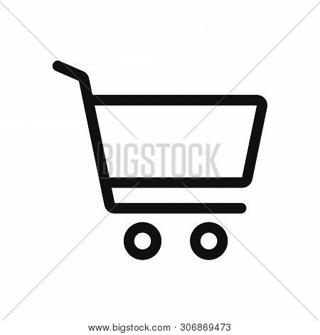 Shopping cart icon isolated on white background. Shopping cart icon in trendy design style. Shopping cart vector icon modern and simple flat symbol for web site, mobile, logo, app, UI. Shopping cart icon vector illustration, EPS10. stock photo