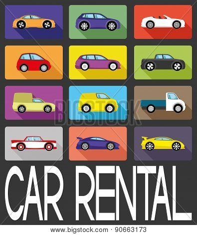 Vector sign. Car rental.