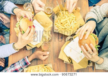 People Eating And Drinking
