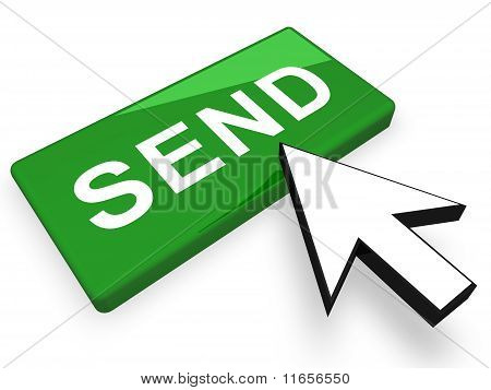 Image of  send button concept in 3D stock photo