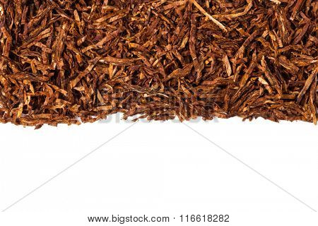 dried smoking tobacco. Isolated on a white background. stock photo