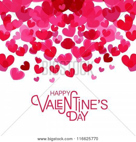 Hand Sketched Happy Valentine\'s Day Text As Valentine\'s Day Logotype, Badge And Icon