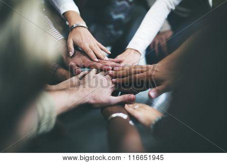 Teamwork Join Hands Support Together Concept