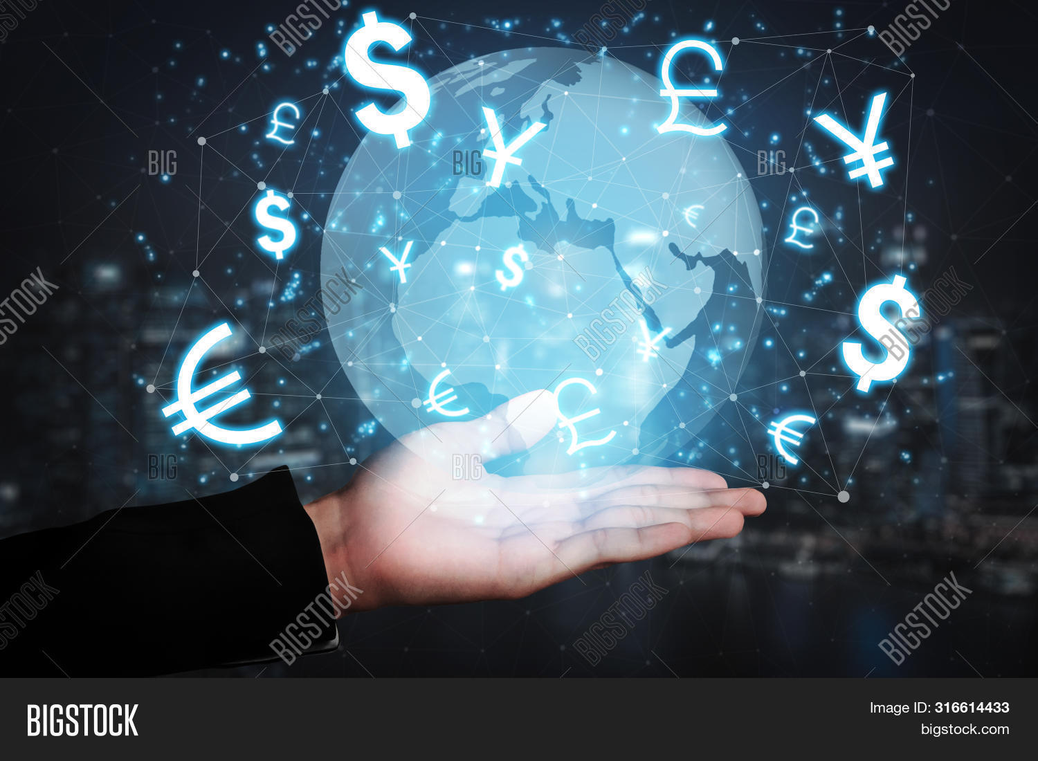 Currency Exchange Global Foreign Money Finance - International Forex Market With Different World Cur