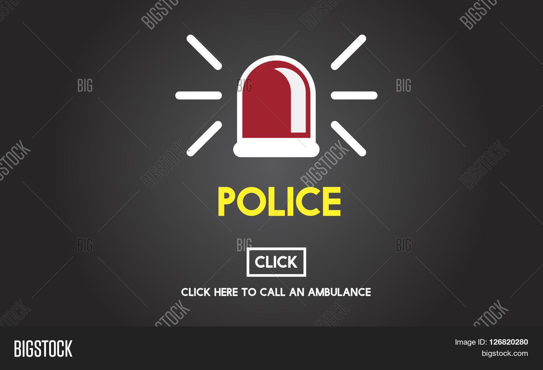 Police Force Cop Municipale Surveillance Officer Law Concept Photo Stock