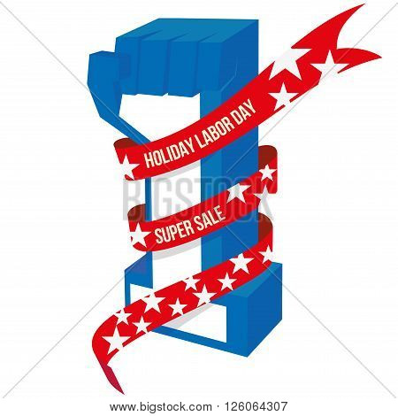 Happy May Day, Workers Day and Labor day designs. Happy Labor Day workers holding wrench in front of america flag in background typography 1st may