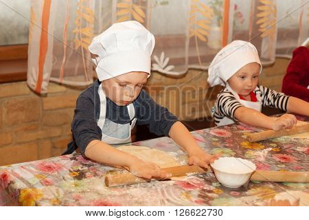 Master Class For Children On Cooking Italian Pizza.