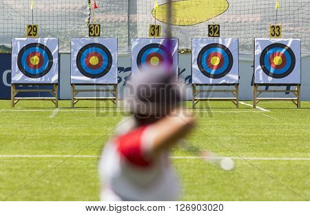 Recurve Bow Archery On Target