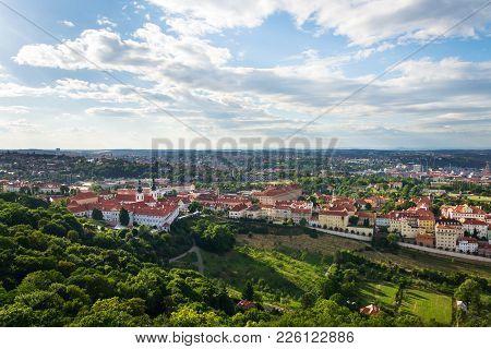 Strahov Monastery, Royal Canonry of Premonstratensians, Prague, Czech Republic stock photo