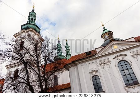 The Basilica of the Assumption of Our Lady in Strahov Monastery, Prague, Czech Republic stock photo