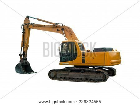 Industrial machinery close up isolated on white stock photo