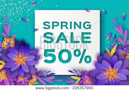 origami violet super spring sale flowers banner paper cut floral 8 mightylinksfo