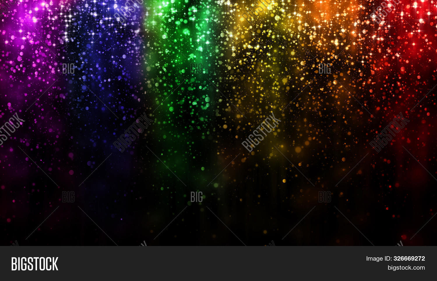 Lgbt Color Festive Background With Shiny Falling Particles, Rainbow Colorful Abstract Graphic For Br