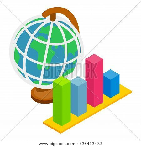 Global dynamics icon. Isometric illustration of global dynamics vector icon for web stock photo