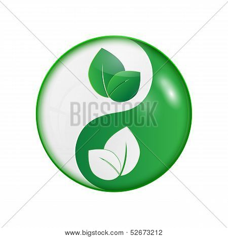 Ying yang symbol of harmony and balance.vector stock photo