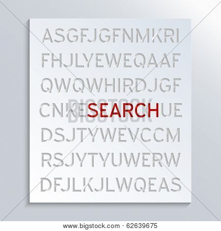 Concept for Information filtering and information retrieval. Abstract background design. stock photo