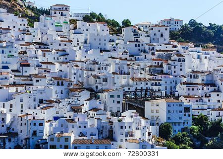 Casares, white town in Andalusian Mountains, Spain
