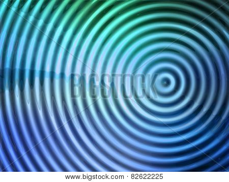 epicenter of  vibration or wave. stock photo