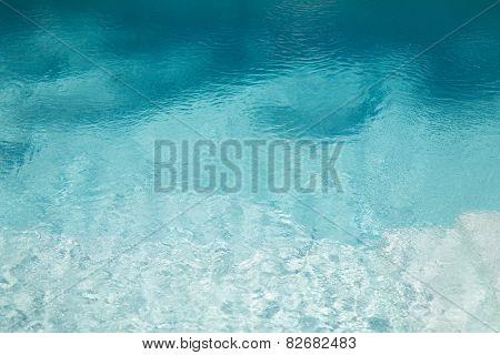 sea, ocean, travel, excursion and foundation idea - water in pool, ocean or sea