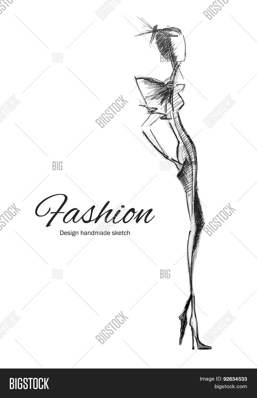 Vector Model Fashion 92634533 Image Stock Photo