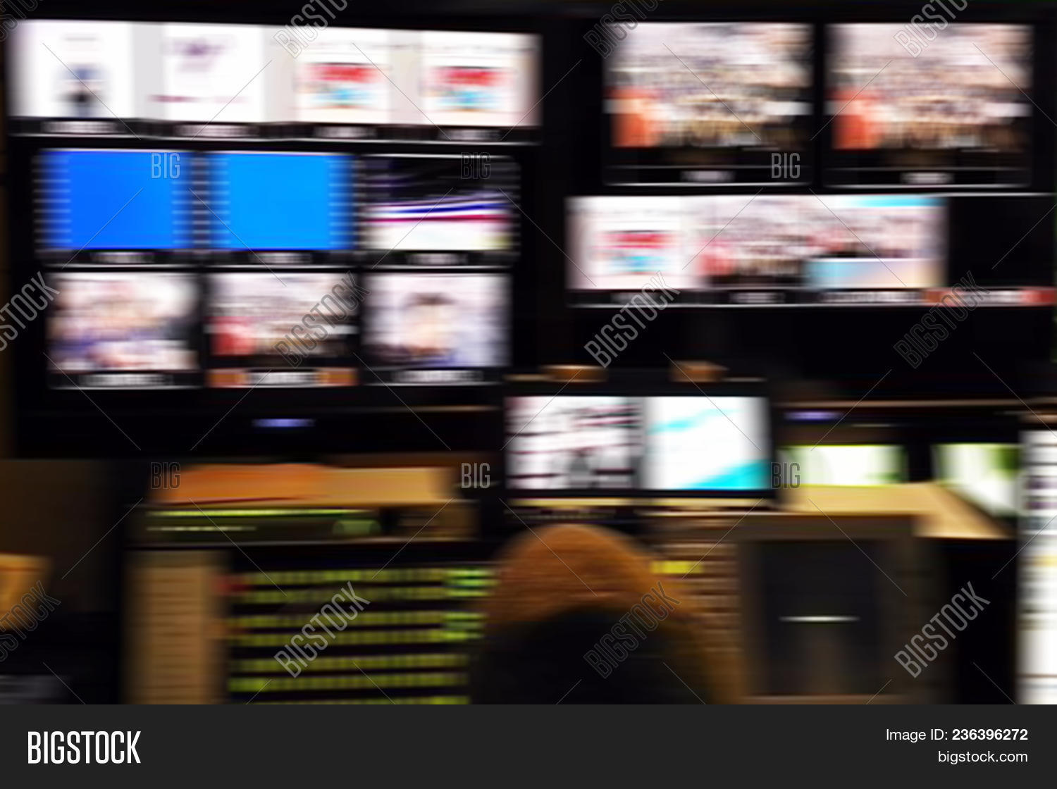 🔥 Blur Image Video Switch Of Television Broadcast, Working With
