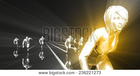 Personal Development Science and Coaching Service Concept 3D Render stock photo