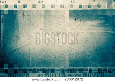 Film negative frames on rough background stock photo