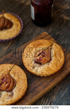 Small Cakes With Pear Inside For All Family