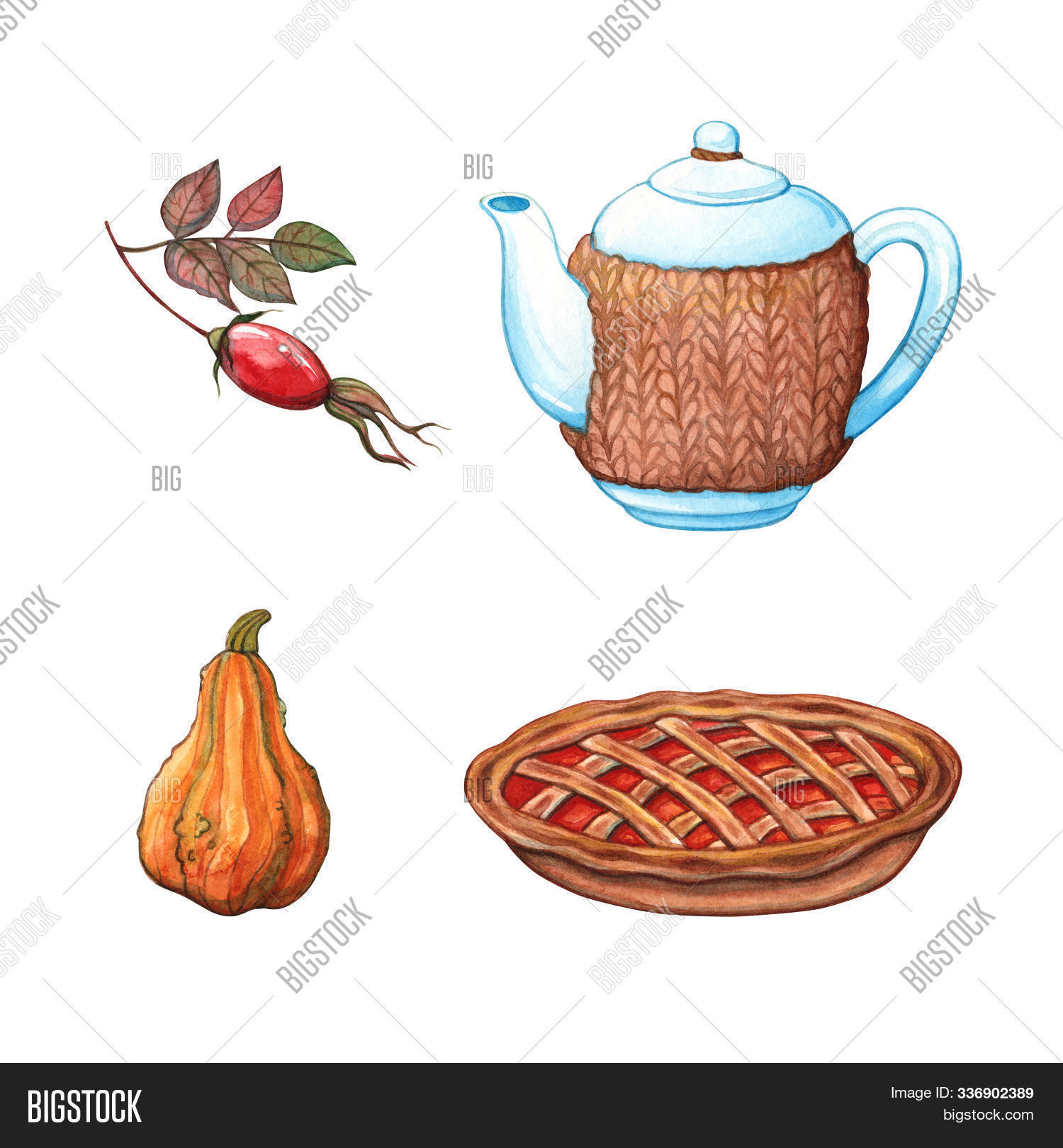 autumn,bake,bakery,berry,beverage,cake,clipart,dessert,dog-rose,drawing,drawn,drink,element,fall,food,hand,herbal,hibiscus,hip,homemade,hot,illustration,isolated,lattice,party,pastry,pie,pot,pumpkin,rose,rosehip,seasonal,set,sweet,tart,tea,teapot,thanksgiving,time,traditional,treat,vegetable,vegetarian,vintage,watercolor,white