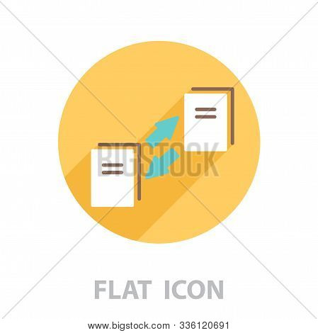 data transfer icon. vector illustration in a flat style stock photo