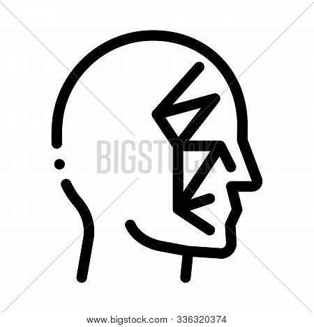 Face Scan by Points Point Projectors Icon Vector. Outline Face Scan by Points Point Projectors Sign. Isolated Contour Symbol Illustration stock photo