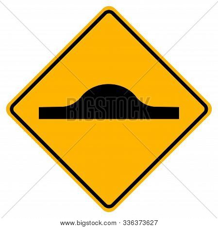 Warning  Bumps ahead Traffic Road Sign,Vector Illustration, Isolate On White Background Label. EPS10 stock photo