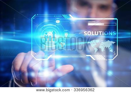 Business, Technology, Internet And Network Concept. Business Solutions, Success And Strategy Concept