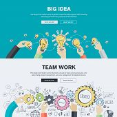 Flat plan outline ideas for business