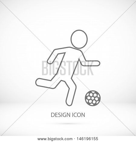 Rester version. Soccer football players silhouettes icons vector best flat icon EPS stock photo