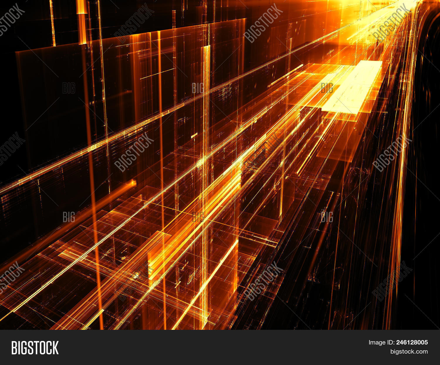 🔥 Summary Golden Fractal Background - Pc-generated 3d