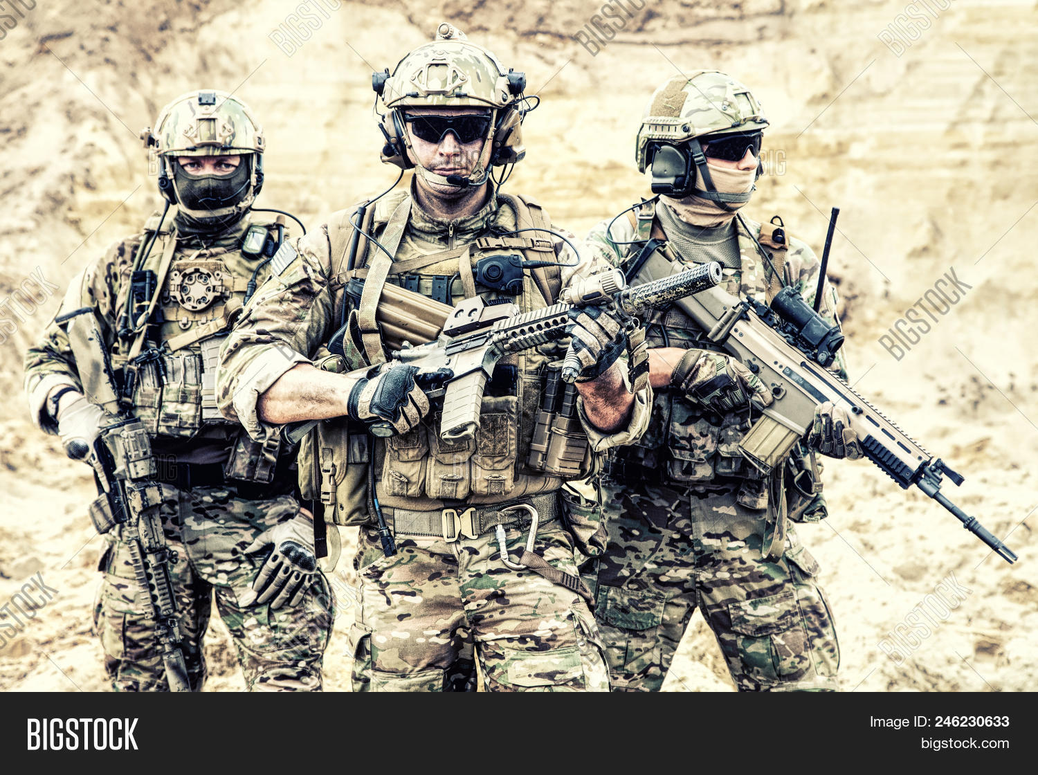 american,ammunition,armed,armor,arms,army,assault,brutal,camouflage,carbine,combat,combatant,commando,conflict,desert,elite,fighter,firearms,forces,group,gun,headset,helmet,hero,infantry,infantryman,mercenary,military,operations,portrait,ranger,rifle,sand,service,serviceman,soldier,special,states,tactical,team,three,troops,uniforms,united,us,veteran,war,warfare,weapon