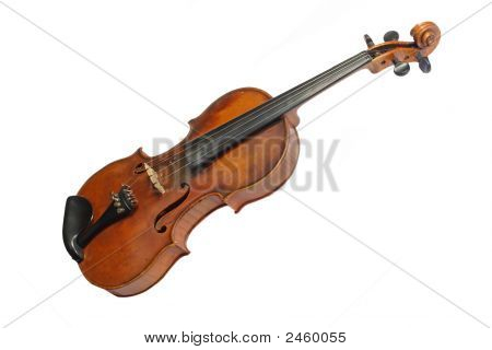 Old violine - isolated on white background stock photo