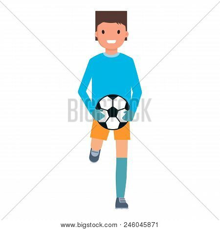 Running goalkeeper icon. Flat illustration of running goalkeeper vector icon for web design stock photo