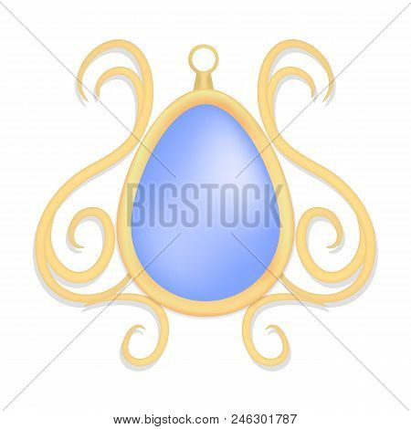 Topaz jewelry mockup. Realistic illustration of topaz jewelry vector mockup for web design isolated on white background stock photo
