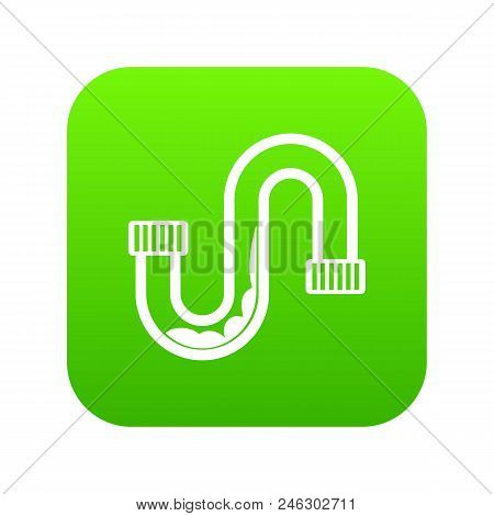 Clog in the pipe icon digital green for any design isolated on white vector illustration stock photo