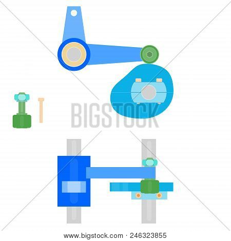 Mechanical Components - Cam and Lever Mechanism stock photo