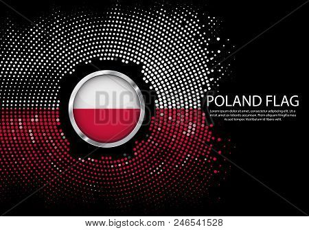 Background Halftone gradient template or LED neon Light on round Dots style of Argentina flag.  Modern soccer cup for futuristic background with circle metallic round of Argentina flag. Vector. stock photo