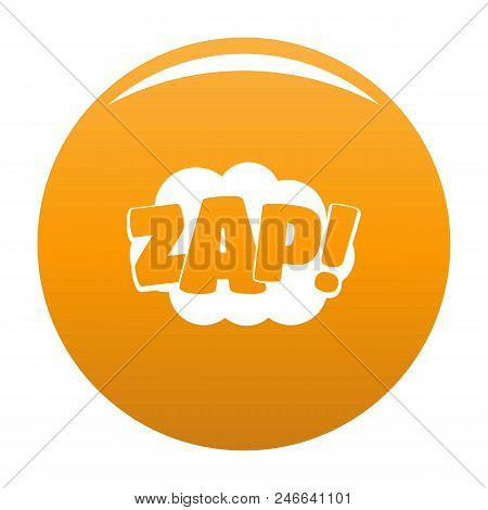 Comic boom zap icon. Simple illustration of comic boom zap vector icon for any design orange stock photo