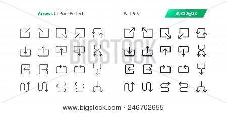 Arrows UI Pixel Perfect Well-crafted Vector Thin Line And Solid Icons 30 1x Grid for Web Graphics and Apps. Simple Minimal Pictogram Part 5-5 stock photo