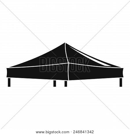 Pavilion tent icon. Simple illustration of pavilion tent vector icon for web design isolated on white background stock photo