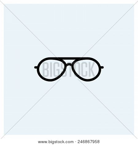 Sunglasses icon vector icon on white background. Sunglasses icon modern icon for graphic and web design. Sunglasses icon icon sign for logo, website, app, ui. Sunglasses icon flat vector icon illustration, EPS10 stock photo
