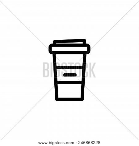 Coffee take away vector icon on white background. Coffee take away modern icon for graphic and web design. Coffee take away icon sign for logo, website, app, ui. Coffee take away flat vector icon illustration, EPS10 stock photo