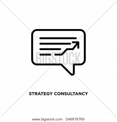 Strategy consultancy vector icon on white background. Strategy consultancy modern icon for graphic and web design. Strategy consultancy icon sign for logo, website, app, ui. Strategy consultancy flat vector icon illustration, EPS10 stock photo
