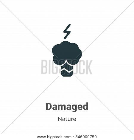 Damaged vector icon on white background. Flat vector damaged icon symbol sign from modern nature collection for mobile concept and web apps design. stock photo